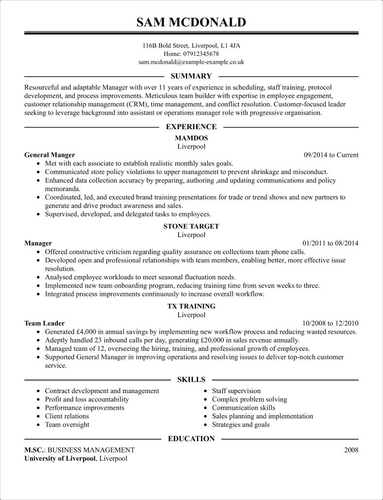 Professional CV template