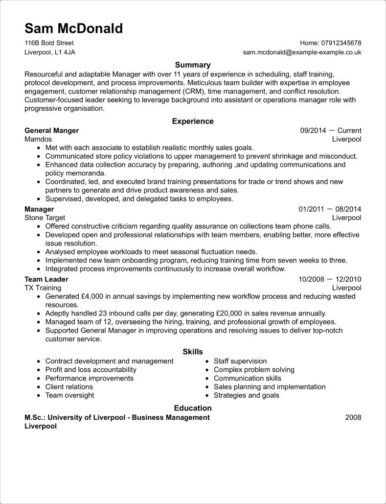 Basic CV template